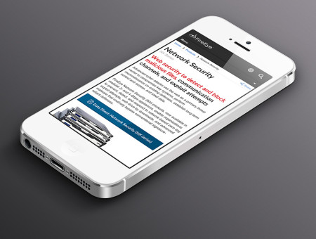FireEye.com on a mobile device