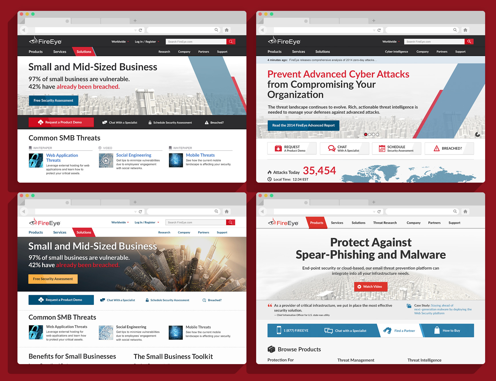 homepage iterations